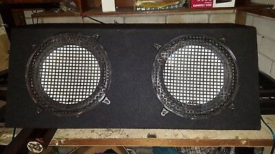 12 Inch JVC Subwoofers Enclosed Box Audio Dual Black with Lights