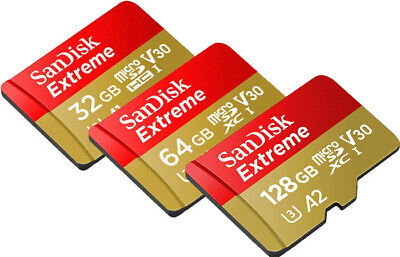 SanDisk Extreme A2 160MB/s 128GB 64GB 32GB micro SD SDHC SDXC Card Lot Class10
