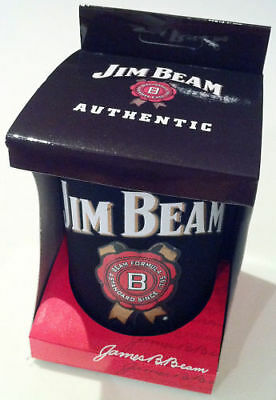 Jim Beam Authentic Black Can Cooler Stubby Holder Boxed