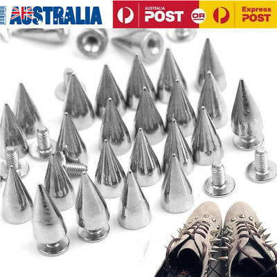 50 /100PCS Punk Metal Alloy Cone Spikes Studs Rivet Spots Leathercraft DIY Craft