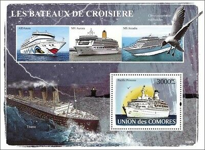 1971 MS PACIFIC PRINCESS (The Love Boat) Cruise Liner Ship Stamp Sheet (2008)