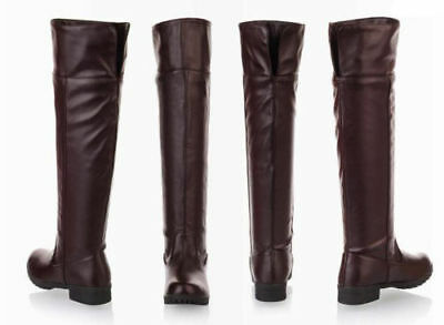 Attack On Titan Cosplay Shoes Wowen Men Boots Flat Knee High Stretch Riding Boot