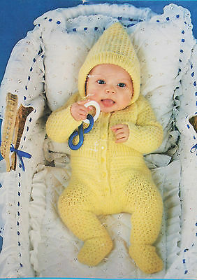 Baby's All-in-One Romper Suit Knitting Pattern (BB01)