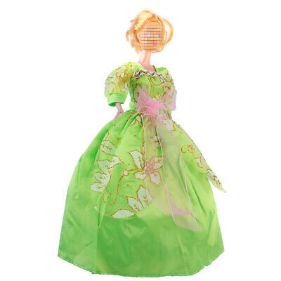 Handmade Vintage Princess Party Gown Dresses Clothes Outfit For Barbie Doll