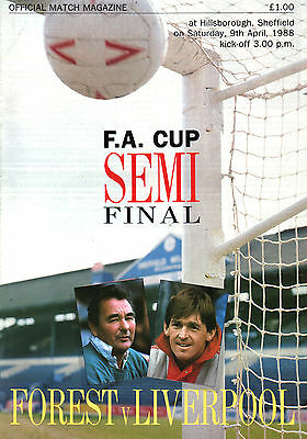 1987/88 Nottingham Forest v Liverpool, FA Cup Semi Final, PERFECT CONDITION