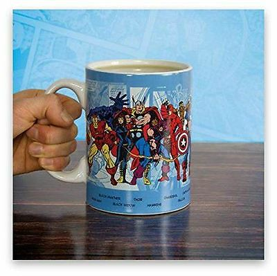 Marvel Comics Super Hero Mug Cup Iron Man Thor Hulk Captain America Avengers