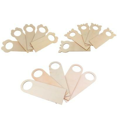 5pcs Unfinished Wooden Door Knob Hanger for Polymer Clay Kids Painting Craft DIY