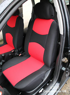 Ford Fiesta Van Front Pair Of Sportmax Red Black Car Seat Covers
