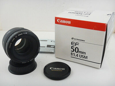 Canon 50mm f1.4 USM Ultrasonic EF + Scatola Box Excellent Condition