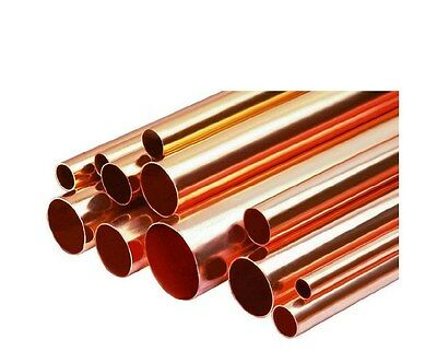 "4"" Inch Diameter Copper Pipe / Tube x 1' foot Length Type L Hard"