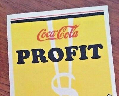 Coca Cola 1920s Profit Push Advertising Folder Flyer Paper Rare!
