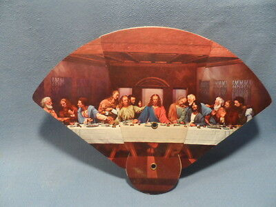"Vintage  ""last Supper"" Church Fan With Heiner's Bread Advertising On Back"