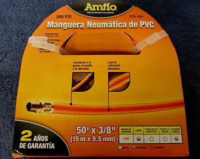 New in Package - Amflo 576-50A PVC Air Hose -- 50 foot X 3/8 inch  $1 Shipping!