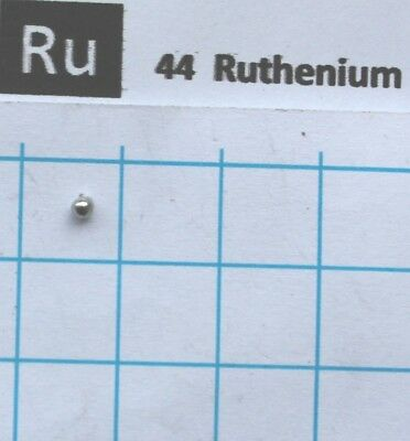 0.05 gram 99.99% solid Ruthenium metal pellet pure element 44 sample