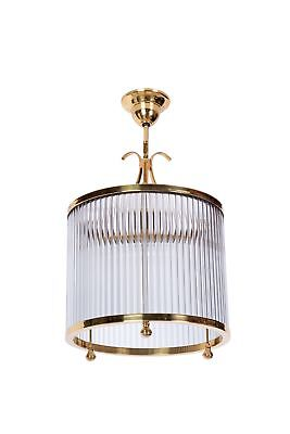 Luxe French Cylindrical Art Deco Chandelier