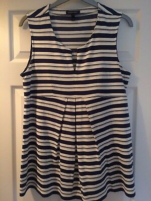 Isabella Oliver 'Imogen' striped maternity top, navy/white, size 5 (16-18), new