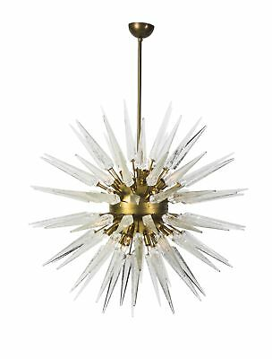 Magnificent Mid-Century Modernist Inspired Sputnik Chandelier With Murano Glass