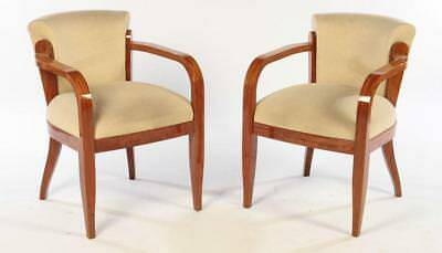 Pair Of Art Deco Open Arm Chairs