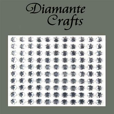 110 x 6mm Clear Diamante Self Adhesive Rhinestone Body Vajazzle Gems