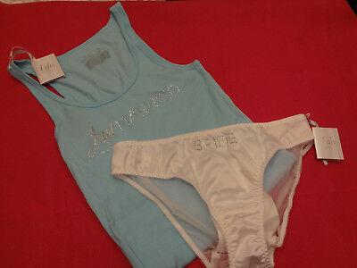 Victorias Secret Bridal Set Tank Top w/ Panty  Bling LARGE Set NWT - BR15