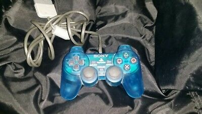 Official OEM Sony PlayStation 1 PSOne PS1 Blue Analog Controller *Tested*!