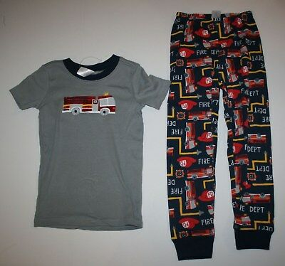 NEW Gymboree Outlet Fire Truck Print Pajamas Gymmies PJs Size 5 6 7 8 10 12 Year
