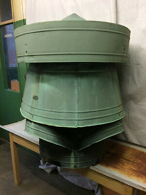 Very Large Vintage Copper Roof Cupola Industrial Hardware