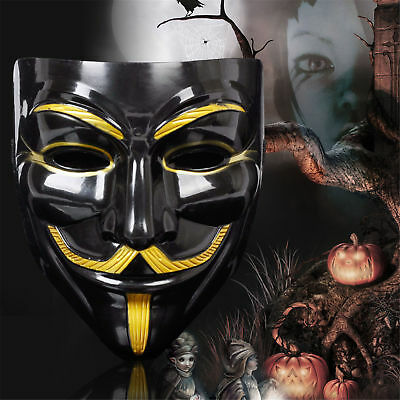 V for Vendetta Mask Anonymous Guy Fawkes Fancy Dress Fancy Costume cosplay HIGH