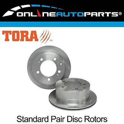 2 Rear Disc Brake Rotors suits Landcruiser VDJ76R VDJ78R VDJ79R 2007-2013 V8 Ute