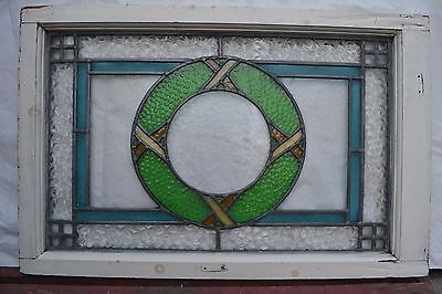 Leaded stained light glass window for above door R552. WORLDWIDE DELIVERY!!!