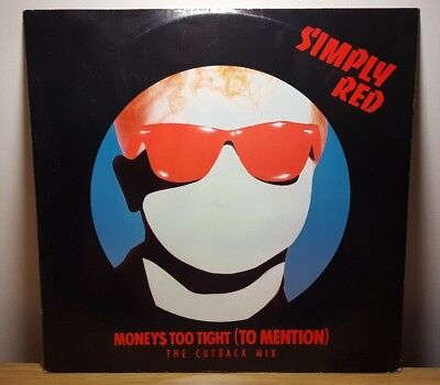 "Simply Red - Moneys too tight to mention 12"" single vinyl 1985"