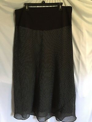Motherhood Maternity Womens Black and While Polka Dot Skirt Size Large Pre-owned