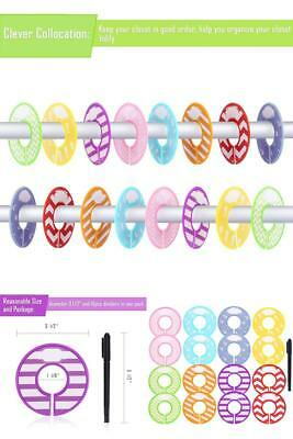 16 pieces colorful baby boy girl closet dividers clothing rack size dividers
