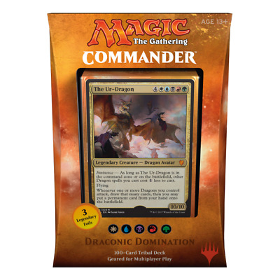 Draconic Domination Commander EDH deck Magic the Gathering