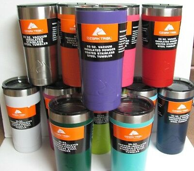 Ozark Trail 20oz Stainless Steel Vacuum Tumbler Lots of Colors FREE SHIPPING!!