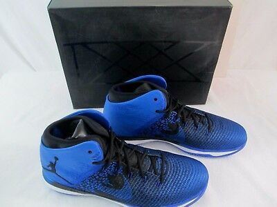 Nike Air Jordan XXXI 31 Men's Mid Basketball Shoes Size 14 M Black, Game Royal