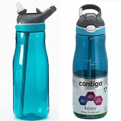 Contigo AUTOSPOUT Ashland 32oz Water Bottle Scuba Blue & Monaco Blue w/ Straw
