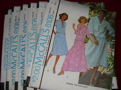 UNCIRCULATED 1978 McCALL/'S #5699-LADIES JUMPSUIT /& CULOTTE DRESS PATTERN 6-20 FF