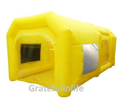 6m yellow inflatable spray booth inflatable car paint booth FREE SHIPPING!!