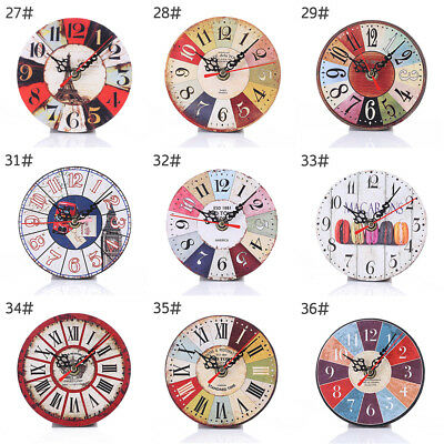 Sense of art MDF Wooden Wall Desk Table Clock Shabby Chic Home Office Decoration