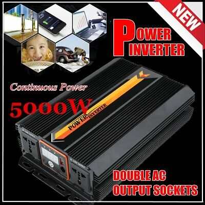 12V DC to 240V AC 5000W / 10000W Power Inverter Charger Converter LCD Display PP