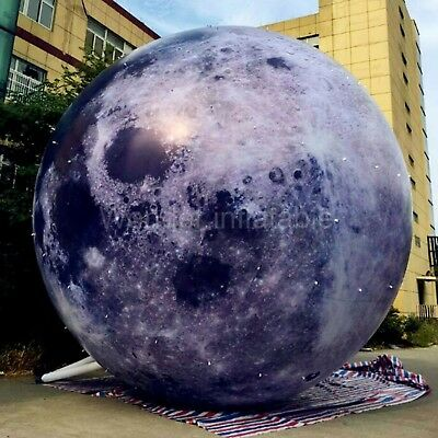 giant inflatable moon ball with LED light inflatable planet balloon for advertis