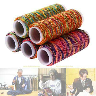 5pcs 110M Leather Sewing DIY Waxed Thread Hand Wax Stitching Repair Cord Craft