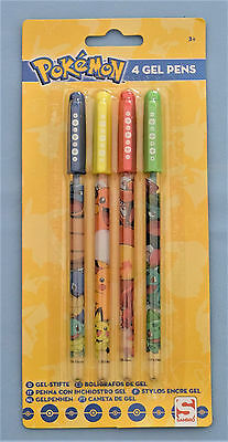 Pokemon Lot de 4 Stylos Encre Gel Pokémon