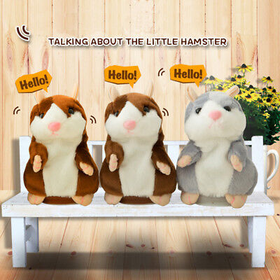 Adorable Toy Mimicry Pet Speak Talking Record Hamster Mouse Plush Child Kids Toy