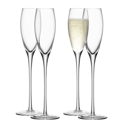 NEW LSA CHAMPAGNE TOWER 300ml SET OF 10 GLASSES BARWARE MOUTH BLOWN GLASSNWARE