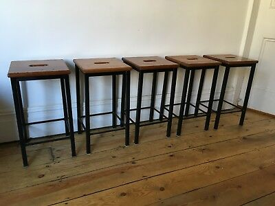 Lovely Old Metal Kitchen / Lab / School Stools Vintage 5 Available