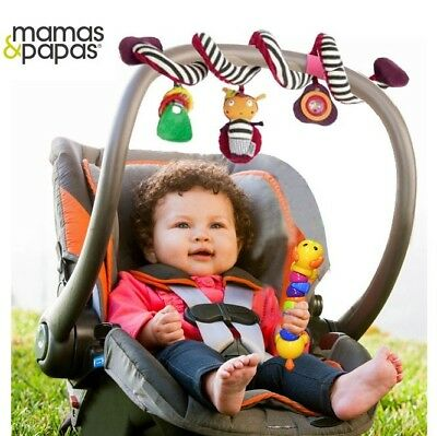 Mamas & Papas Baby Kid Child Crib Stroller Playmat Observe Rattle Spiral Toy 0+