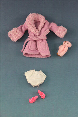 4 PCS Outfits NIGHTGOWN+Shoes+Plush Toy For 11.5in.Doll Clothes a02