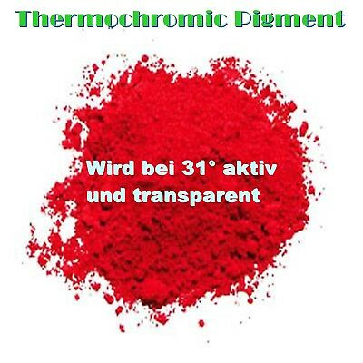 Rot Thermoaktiv Pigment Thermopigment Thermo Thermochromic Lack Dip